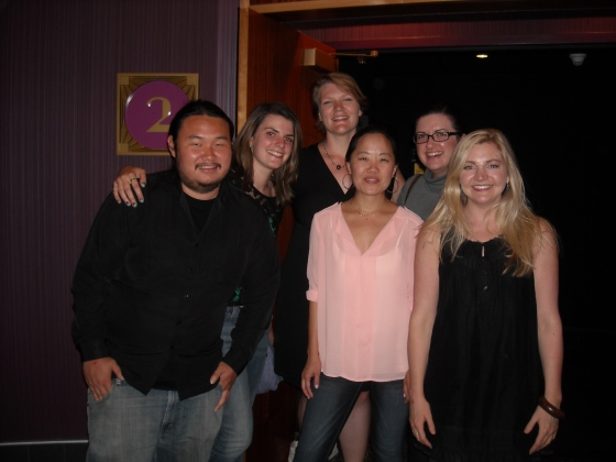 With my team at the screening of our 48 hour film, Dead End Job.