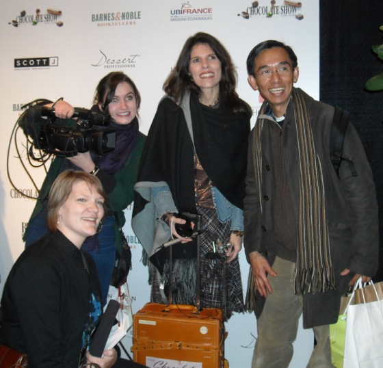 My crew (mostly) at our first shoot - The New York Chocolate Show